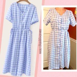 Dresses & Skirts - Blue Gingham Vintage Inspired Dress